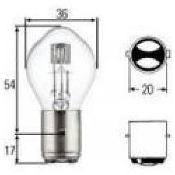 ampoule de phare blanche 6v 35/35w