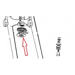 plaque de fermeture de frein de direction