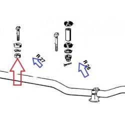 ecrou M8X1 inox fixation de guidon R27