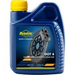 liquide de frein DOT4    putoline 0.5 litre