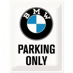 plaque metal parking  only  30X40cm