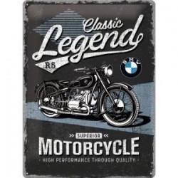 plaque metal legend  30X40cm
